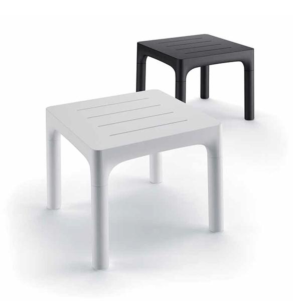 Table Simple Blanc et Noir Perle Plust Jardinchic