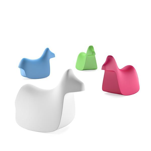 Statues / Chaises pour enfant Pony Bleu ciel / Blanc / Vert / Rouge Plust Jardinchic