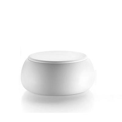 Table Basse T-Ball Plateau Polyéthylène Blanc Structure Blanc Mat Plust Jardinchic