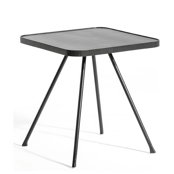 Table Basse Attol Aluminium Carrée 45x45x49cm Anthracite Oasiq Jardinchic