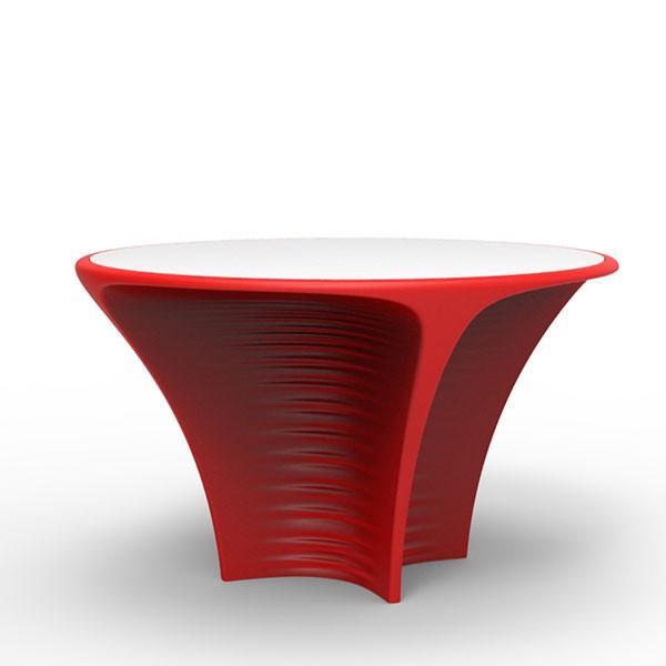 Table avec plateau hpl biophilia jardinchic for Table exterieur hpl
