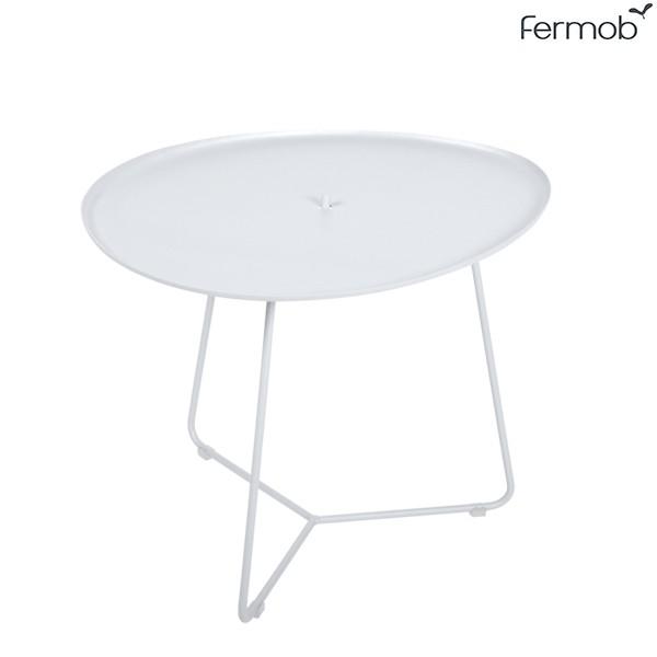 Table Basse Plateau Amovible Cocotte Blanc Coton Fermob Jardinchic