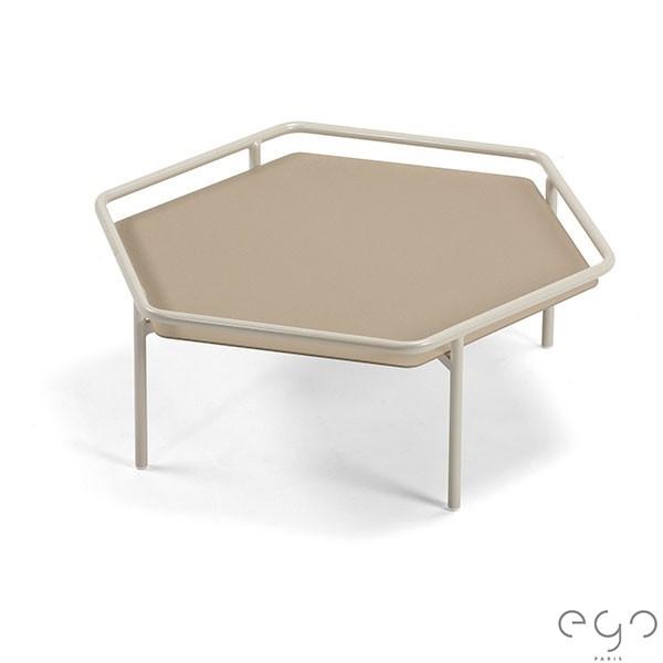 Table Basse Hive Laque Pierre de Lune Plateau Quartz Givré EGO Paris Jardinchic