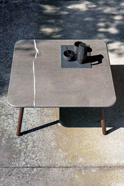 Table Basse Carrée Piper Plateau Pierre - JardinChic