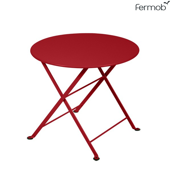 Table Basse Ronde Tom Pouce Coquelicot Fermob Jardinchic
