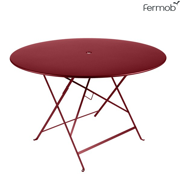 Table Bistro Ø117cm Piment Fermob Jardinchic