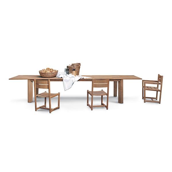 Table de repas rectangulaire brick jardinchic - Coin terrasse jardin argenteuil ...