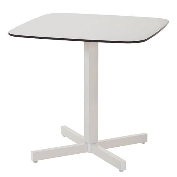 Table Carrée Plateau HPL Shine Blanc Cassé Emu JardinChic