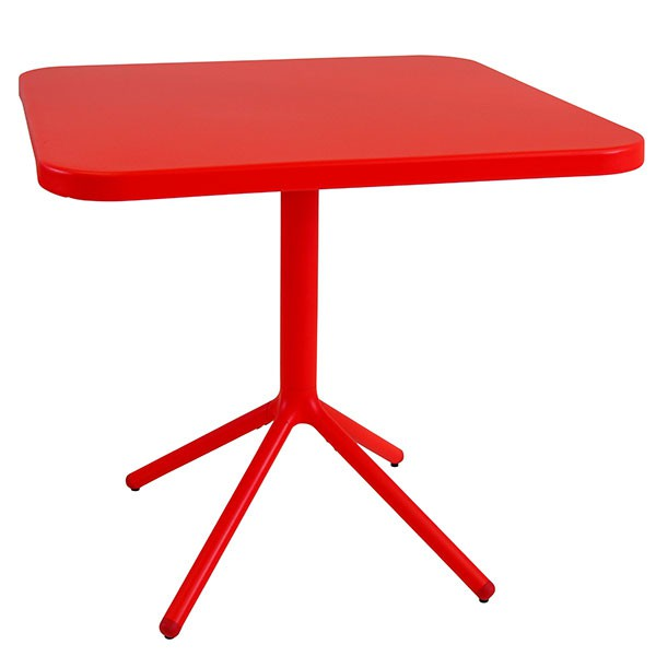 Table Carrée Grace H74cm Rouge Cerise Emu Jardinchic