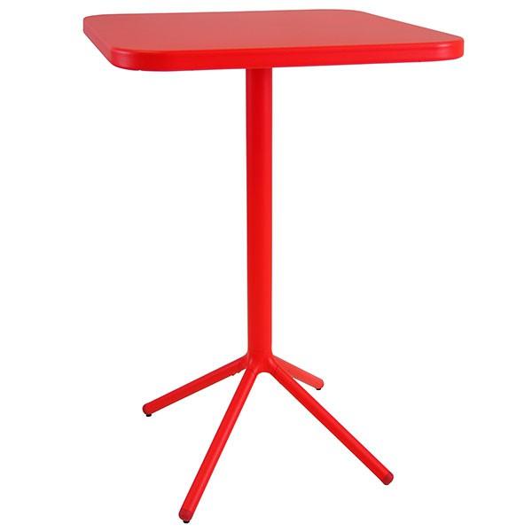 Table de bar carr e pliable grace h105cm jardinchic for Table de bar rouge
