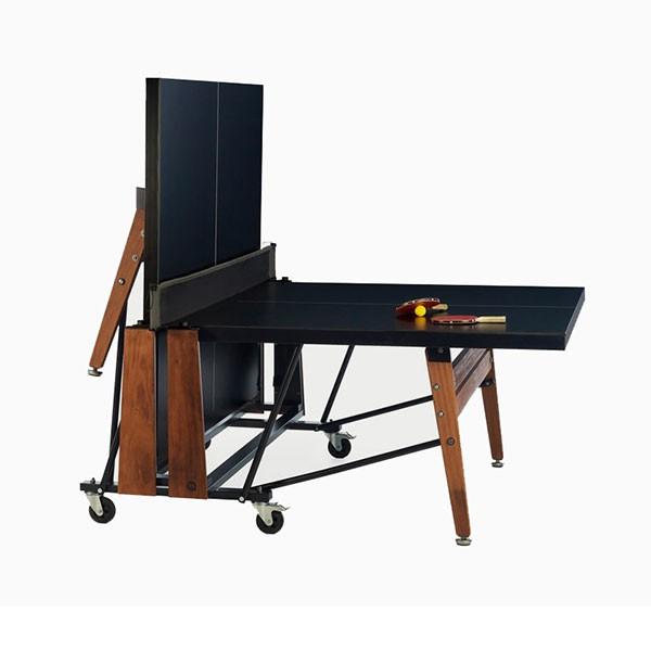 Table de ping pong a roulettes rs folding jardinchic for Table de ping pong interieur