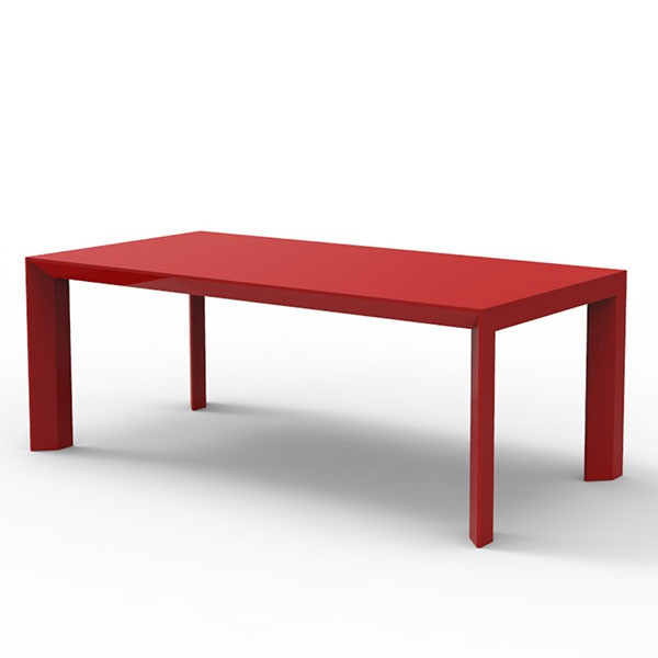 Table de repas frame jardinchic - Table de jardin rouge ...