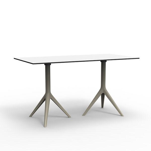 Table double avec plateau hpl mari sol jardinchic for Table exterieur hpl