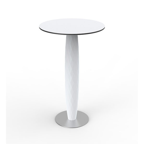 Table Haute Ronde Vases