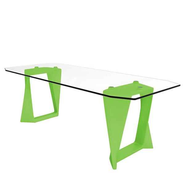 Table iso plateau verre jardinchic for Table exterieur plateau verre