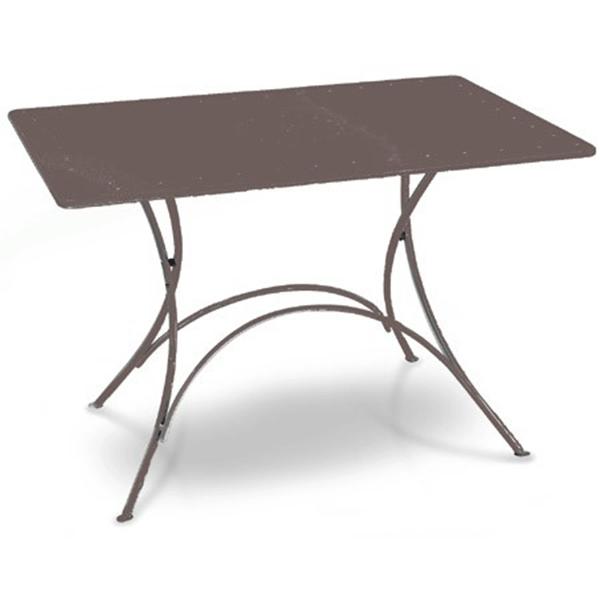 Table rectangulaire pliable Pigalle Fer Ancien Emu Jardinchic
