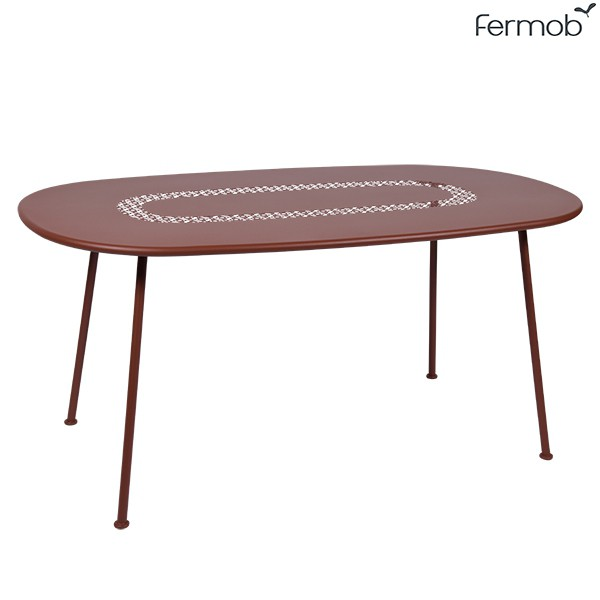 Table Ovale Lorette Ocre Rouge Fermob Jardinchic