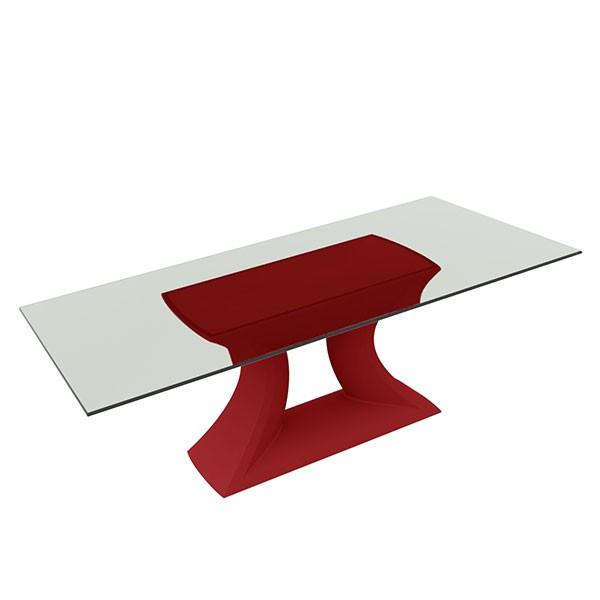 Table plateau en verre rest jardinchic for Table exterieur plateau verre