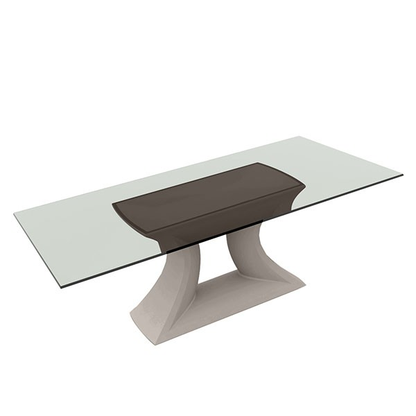 Table plateau en verre rest jardinchic for Plateau en verre