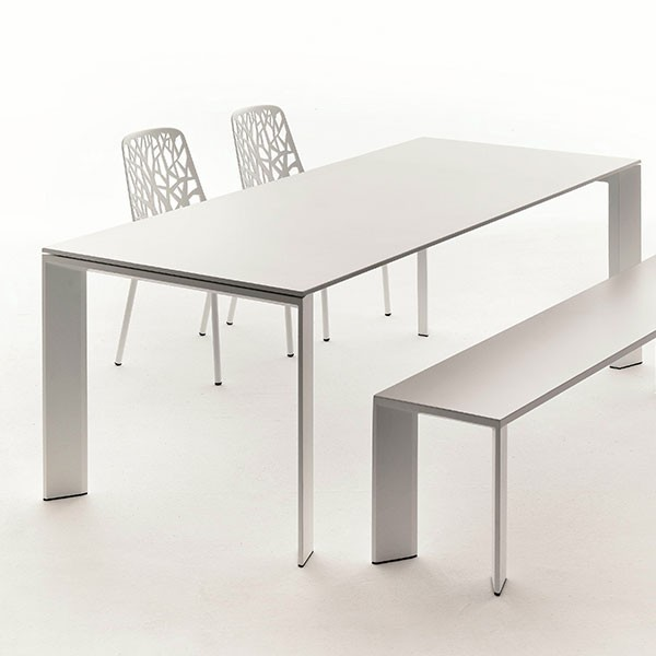Table rectangulaire a rallonge l270cm grande arche for Table rectangulaire rallonge