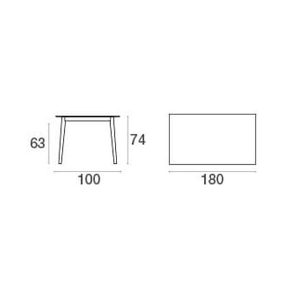 table rectangulaire kira jardinchic. Black Bedroom Furniture Sets. Home Design Ideas