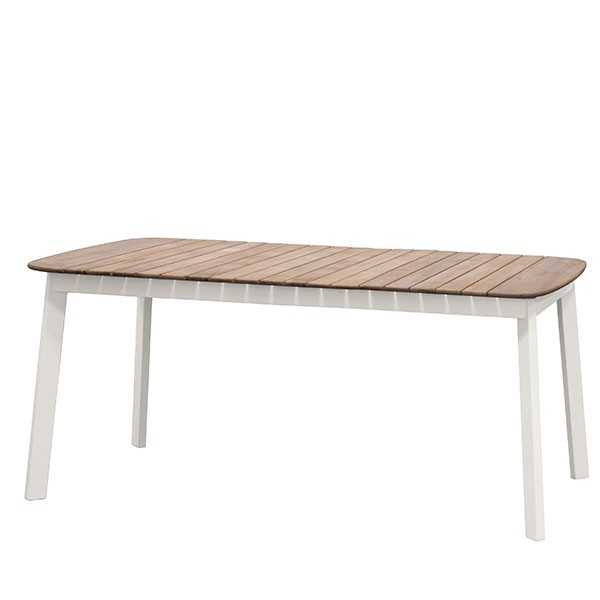 Table Rectangulaire Plateau Teck Shine - JardinChic