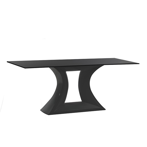 Table Rest Plateau Verre Blanche Vondom JardinChic