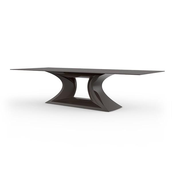Table Rest Plateau Verre Blanche Vondom JardinChic