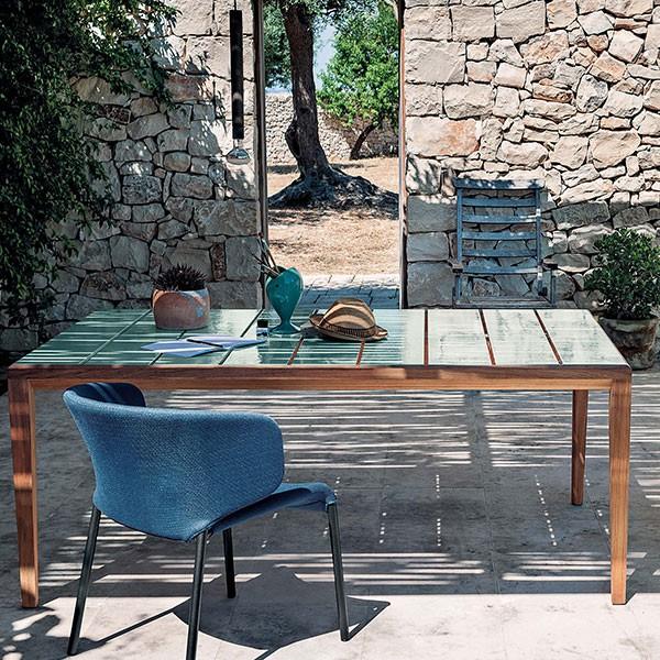 Table de repas teka jardinchic for Roda arredi