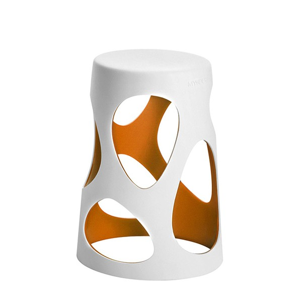 Tabouret Liberty Blanc / Orange MyYour JardinChic