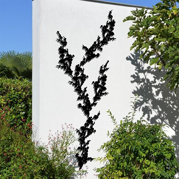 Composition Treille Prunus Liana Noire Palissadesign Jardinchic