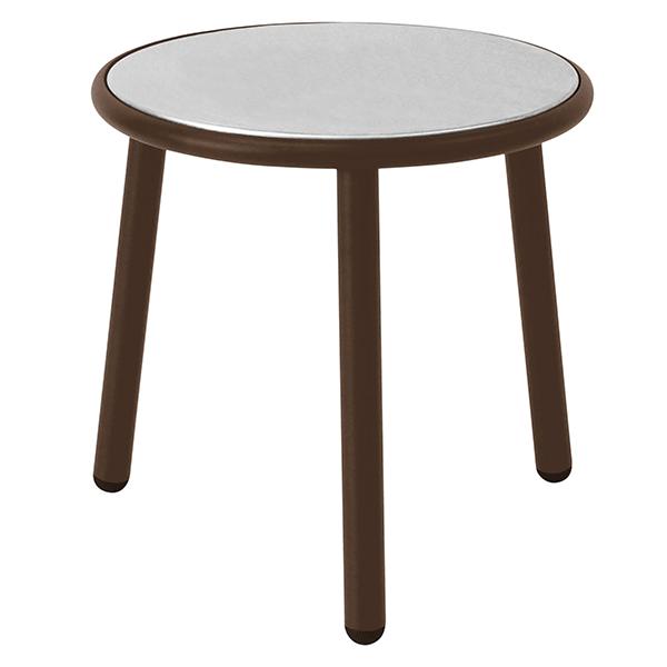 table basse plateau inox yard jardinchic. Black Bedroom Furniture Sets. Home Design Ideas