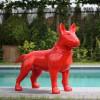 Statue Bull Terrier Rouge Laquée