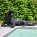 Statue Crocodile Laqué