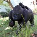 Statue Gorille avec Bébé