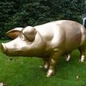 Statue Cochon Laqué