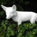 Statue Renard Blanc