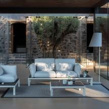 Sofa 2 Places Tami Structure Blanc