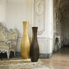 Vases Lolita Acier Bruni et Fer Finition Feuilles d'Or De Castelli Jardinchic