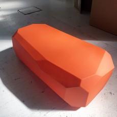 Assise/ table Météor Orange Large - Modèle d'Exposition Serralunga Jardinchic