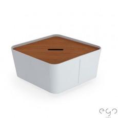 Bac Hive Large Blanc Givré avec Couvercle Hive Teck vendu séparément - Ego Paris Jardinchic
