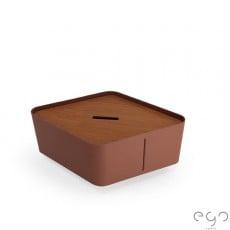 Bac Hive Small Rouille Givré + Couvercle Hive Teck vendu séparément - Ego Paris Jardinchic