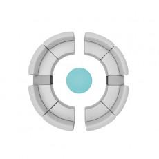 Canapé Arc de Cercle avec Table Basse Belt