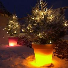 Pot Lumineux Bloom 90 Noel Neige RésistantBloom! JardinChic