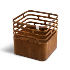 Braséro Cube Rusty Hofats Jardinchic