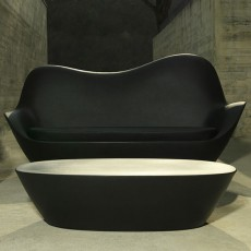 Canapé et Table Basse Sabinas Noir Vondom Jardinchic