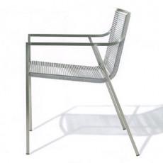 Chaise avec Accoudoirs SB01 Corde Nylon Blanc Coro JardinChic