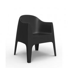 Chaise Avec Accoudoirs Solid Noir Vondom Jardinchic