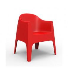 Chaise Avec Accoudoirs Solid Rouge Vondom Jardinchic