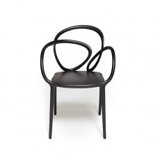 Set de 2 Chaises Loop Black Face Qeeboo Jardinchic